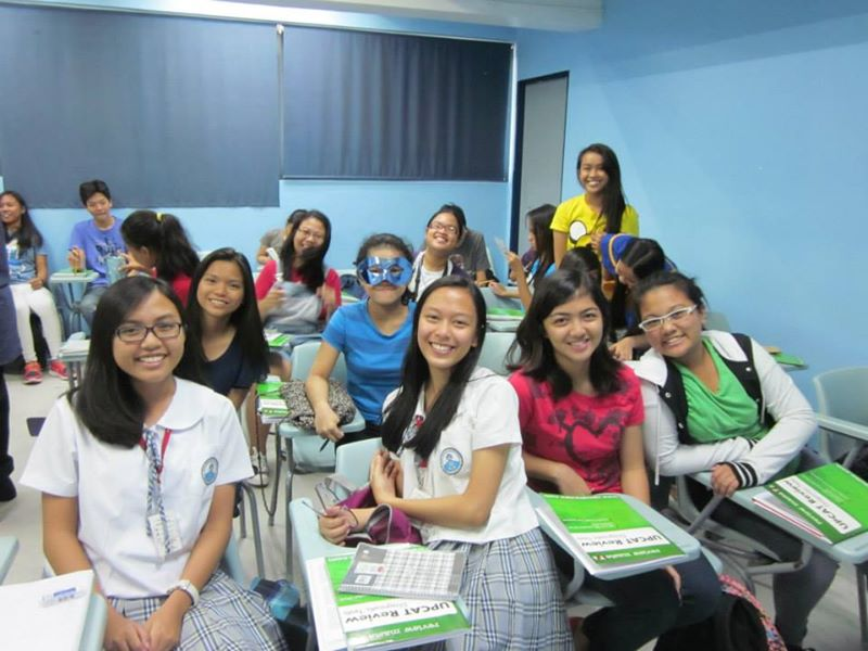 upcat review lovely students pose for a picture